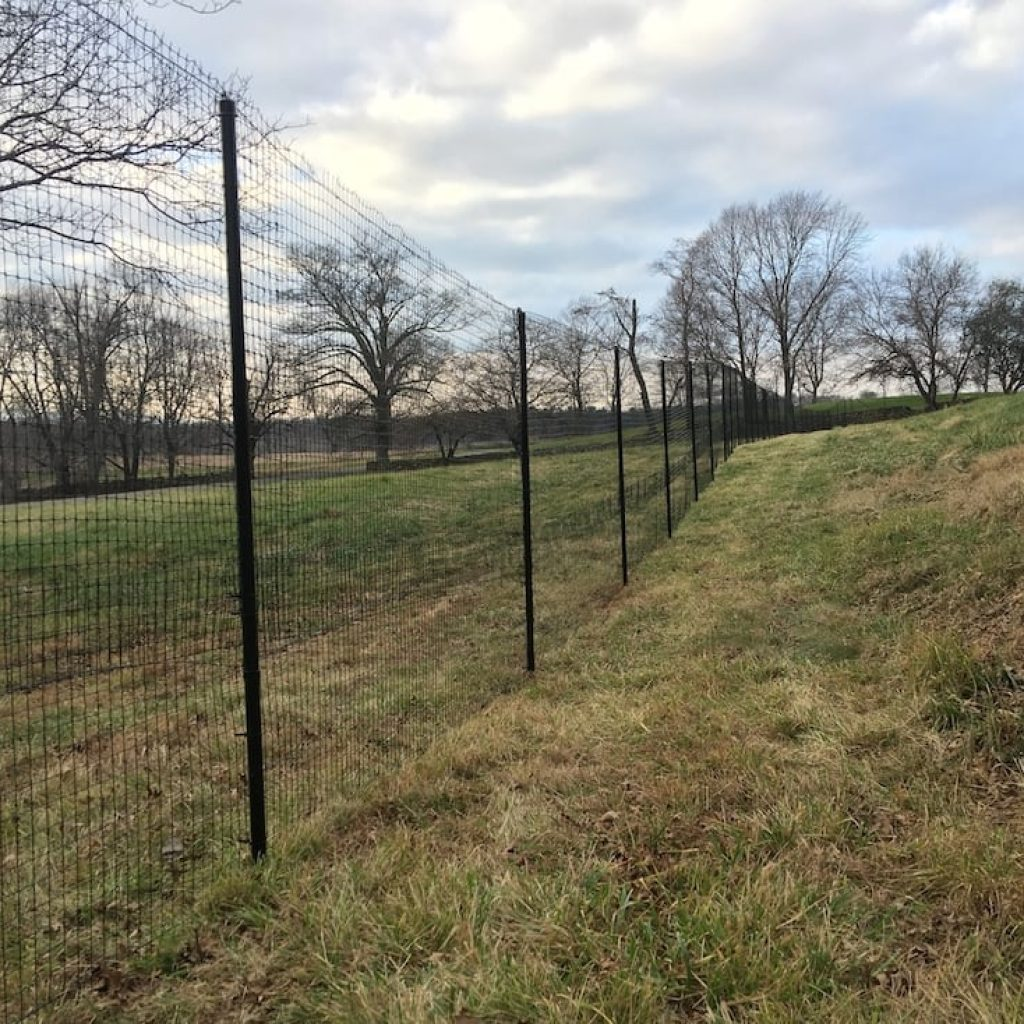 Deer fence installation