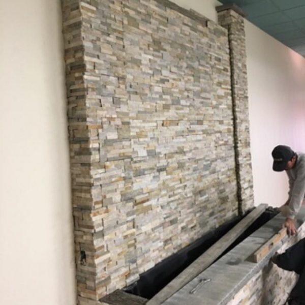 interior renovation fireplace