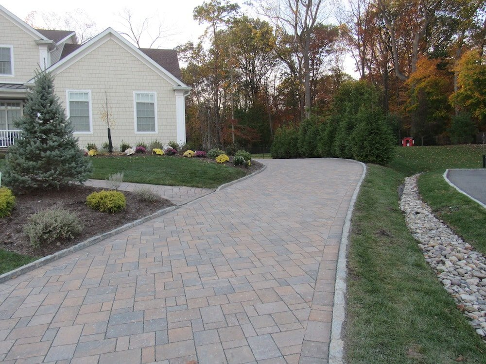 permeable paver driveway in montvale 2