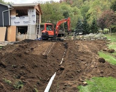 Drainage Install Upper Nyack