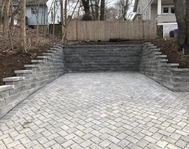 Driveway and Retaining Wall Job