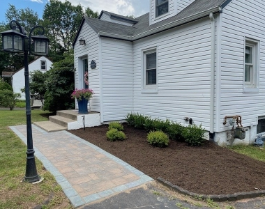 Front Sidewalk in Valley Cottage – Before and After