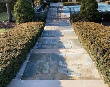 Limestone Steps Repair