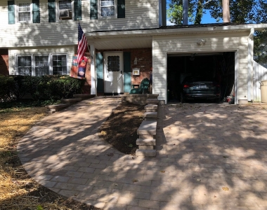 Paver driveway and wheel chair ramp
