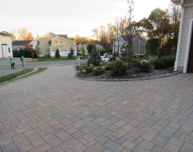 Permeable Paver Driveway in Montvale