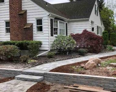 Complete demo, Construction, and Landscape design.